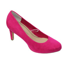 Marco Tozzi Pink Micro Fibre Slim Court Shoes