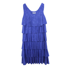 Zapara Royal Blue Layered Dress
