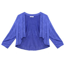 Zapara Royal Blue Easy Drape Bolero