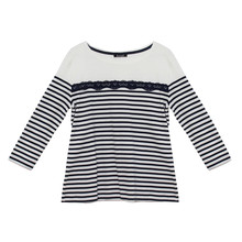 Twist Breton Style Casual Stripe Top