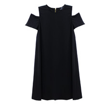 Ronni Nico Black Cold Shoulder Round Neck Dress