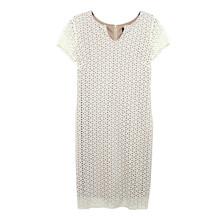 Ronni Nico Ivory & Nude Laser Cut Dress