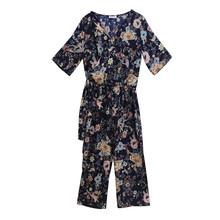 Zapara Oriental Pattern Culotte Jumpsuit