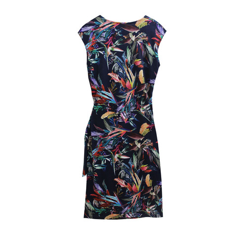 Zapara Floral Cross Over Warp Dress