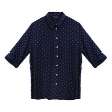 Twist Mini Anchor Pattern Print Shirt