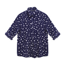 Twist Star Design Over Sized Shirt