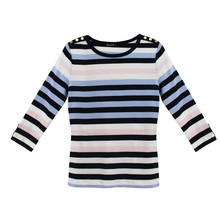 Twist Multi-Stripe Long Sleeve Top