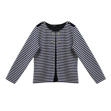 Twist Nautical Inspired Stripe Rib Cardigan