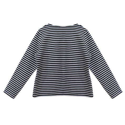 Twist Nautical Inspired Stripe Rib Cardigan