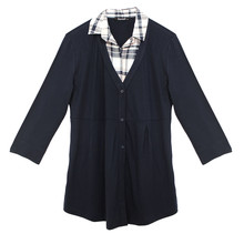 Twist 2 in 1 Check Shirt Cardi