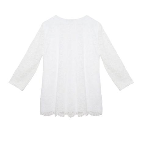 SophieB White Lace Zipper Top