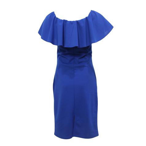 Zapara Blue Bardot Neckline Dress