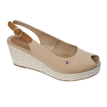 Tommy Hilfiger Sand Low Peep Toe Wedges