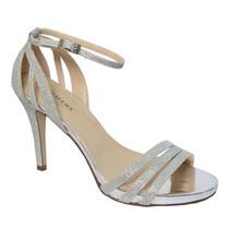 Pacomena Silver Ankle Strap Shoe