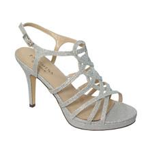 Pacomena Silver Slip Platform Shoes