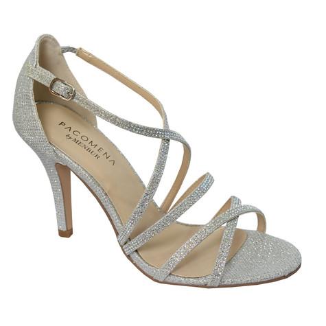 Pacomena Silver Strappy Sandals