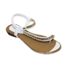 Lunar White Toe Post Glam Sandal