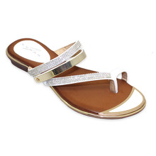 Lunar White Toe Post Mule Sandal