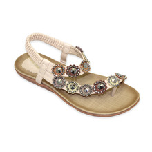 Lunar Brown Toe Post Elastic Sandal