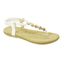 Lunar White Toe Post Elastic Sandal
