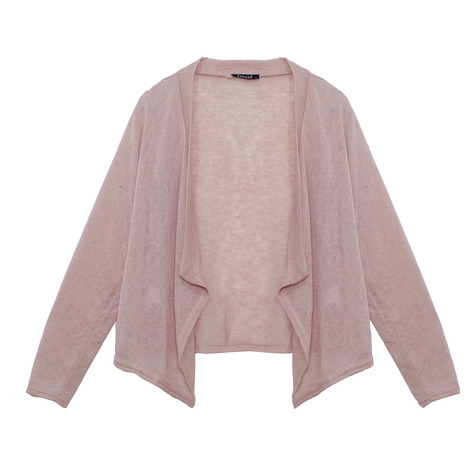Twist Pink Linen Knit Bland Drape Cardi