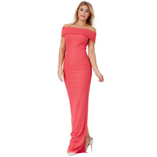 City Goddess CORAL MULTI NECKLINE MAXI DRESS
