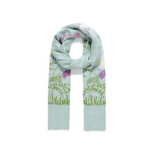 Jewel City Mint Flower Print Pattern Accessory Scarf