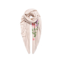 Jewel City Mint Flower Pattern Print Accessory Scarf