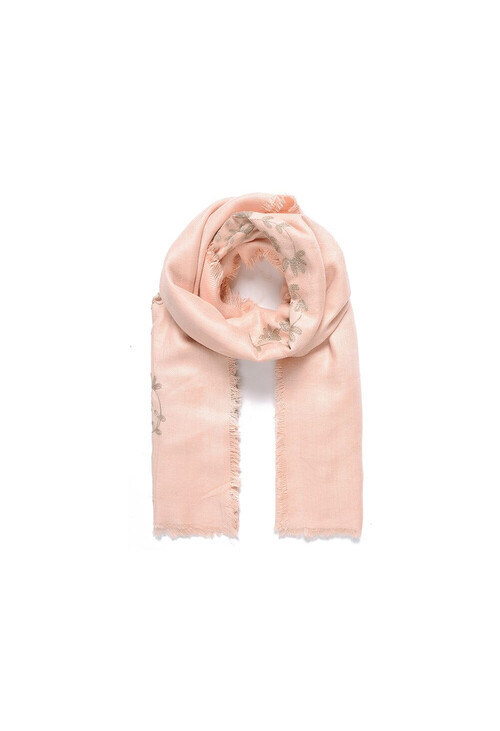 Jewel City Blush Flower Pattern Accessory Scarf