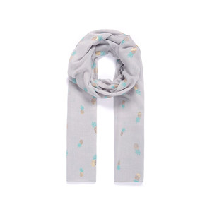 Jewel City Grey Ski Pass Accessory Scarf