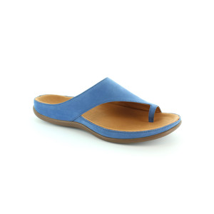 Strive Blue Leather Upper & Insole Sandal