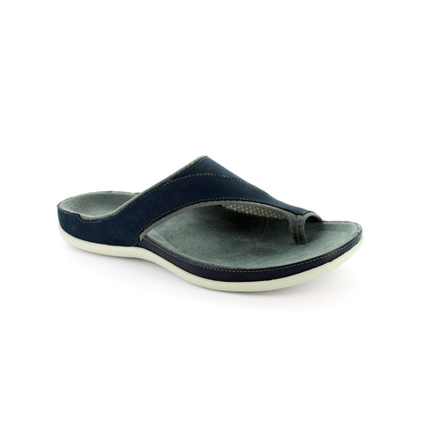 caf71a71e87b Strive Navy Leather Upper   Insole Sandal