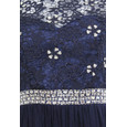 Max And Lola Navy Mesh Shoulder Sequence Detail Maxi Dress