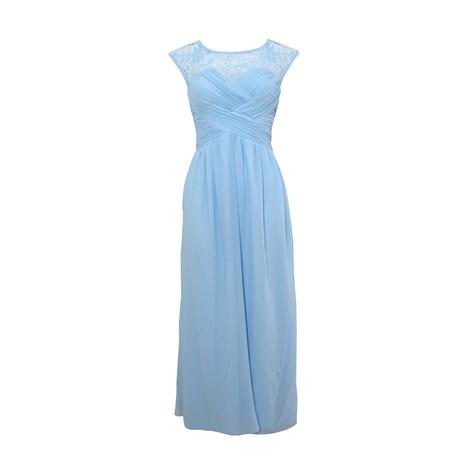 Max And Lola Baby Blue Rouched Body Maxi Dress