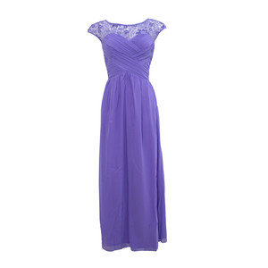 Max And Lola Lavender Rouched Body Maxi Dress