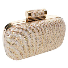 Dice Gold Glitter Clutch Bag