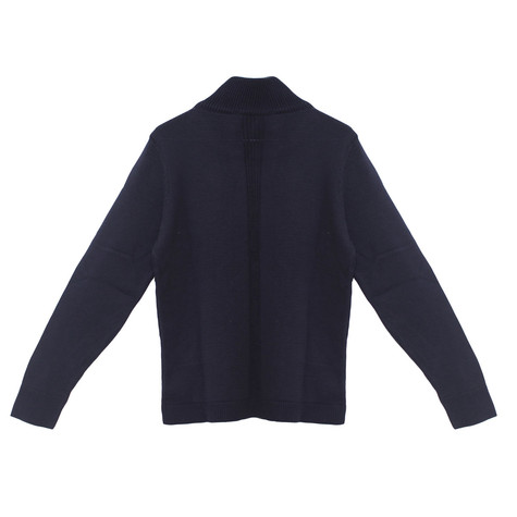 Twist Navy Zip Up Knit