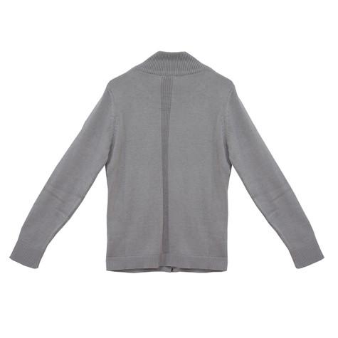 Twist Grey Zip Up Knit