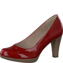 Marco Tozzi Red Slim Platform Court Shoe