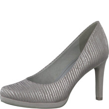 Marco Tozzi Silver Slim Platform Court Shoe