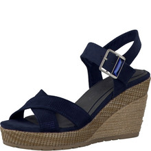 Marco Tozzi Navy Wedge Sandal