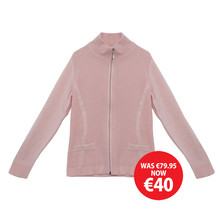 Twist Zip Up Pink Knit