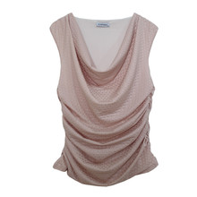 Zapara Draped Soft Cowl Neck Top