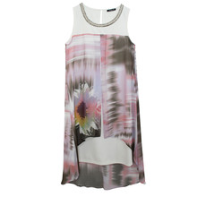SophieB Digital Sunflower Abstract Print Dress