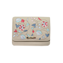Love Juno Stone Floral Embroidery Clutch Bag
