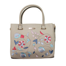 Love Juno Stone Coloured Floral Embroidery Hand Bag