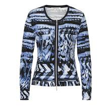 Betty Barclay Blue Patterned Knit Jacket