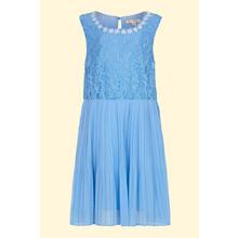 Yumi Girls Pale Blue Pearl Floral Lace Dress