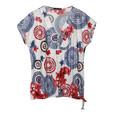 SophieB Floral & Graphic Zip Detail Top