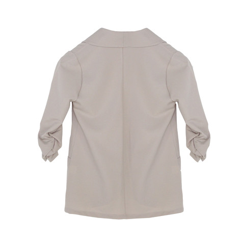SophieB Beige Rouched Sleeve Light Jacket